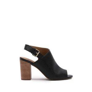 14th & Union Asher Black High Block Heel Sandals 8